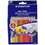 Staedtler Noris Club Aquarell 144 10 - Etui Carton Double Couche 36 Crayons de Couleur Aquarellables