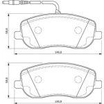 Bosch BP930 - 4 Plaquettes de frein Avant