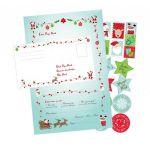 Lettre Au Père Noël Inclus 6 Lettres + 6 Enveloppes + 15 Stickers - Megacrea Diy - Neuf