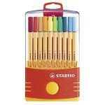 Stabilo Point 88 - 20 stylos-feutres pointe fine en Étui ColorParade
