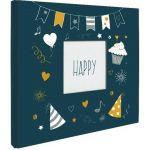 Panodia Album photos traditionnel - 80 vues - 40 pages - Confettis