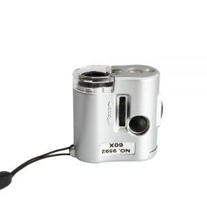Yonis Y-mmd4 - Mini microscope optique de poche zoom x60 loupe portable compacte