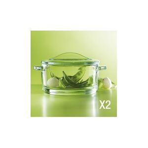 La Rochère 2 minis cocottes Léa en verre pressé (10 cm)