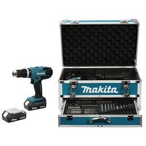 Makita HP457DWEX4 - Perceuse visseuse à percussion 18V (2 batteries + accessoires)