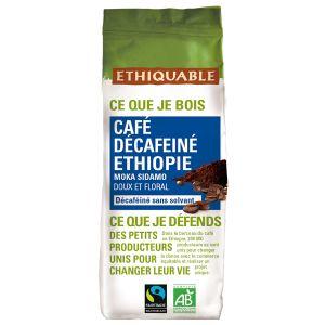 Ethiquable Café moulu décaféiné Ethiopie BIO 250g