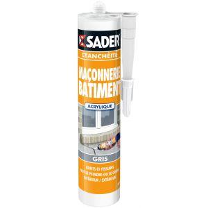 Sader Mastic maçonnerie gris 310ml