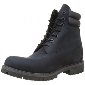 Timberland 6 in Double Collar Waterproof, Bottes Homme, Bleu (Dark Sapphire), 43 EU