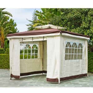 Indoor-outdoor Tonnelle carrée Sidney toile polyester 3x3m