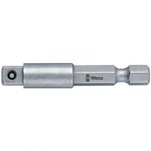 Wera Raccord tige à 6 pans 1/4'' /prise de force à 4 pans 1/4'' Long. totale 100 mm -