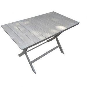 Naterial Table de jardin Portofino rectangulaire gris 4 personnes