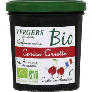 Vergers des Alpilles Confiture extra cerise griotte au sucre de canne bio