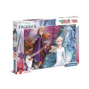 Clementoni Puzzle Glitter 104 pièces La Reine des Neiges 2