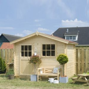 Abri de jardin en bois 28 mm avec plancher 6 m2