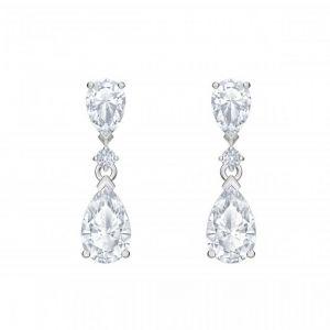 Swarovski Boucles d'oreilles 5512393 - Métal Rhodié Gouttes En Cristal Raffinées Femme