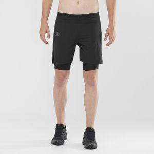 Salomon Exo Motion Twinskin Short Homme, black M Pantalons de compression