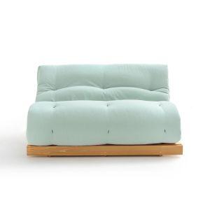 Matelas futon Latex laine lin pour banquette THAÏ Céladon Taille 90x190 cm;140x190 cm;160x200 cm