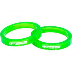 FSA Entretoises de jeu de direction (colorées, polycarbonate) - Vert