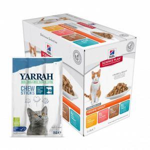Hill's Pack de sachets pour chats stérilisés Delicious - 12 x 85 gr