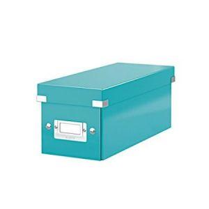 Leitz 6041-00-51 - Boîte de rangement Click & Store, format CD, en PP, coloris menthe glacée