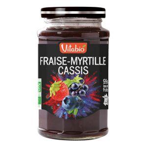 Vitabio Confiture Délice Fraise-Myrtille-Cassis Bio 290g