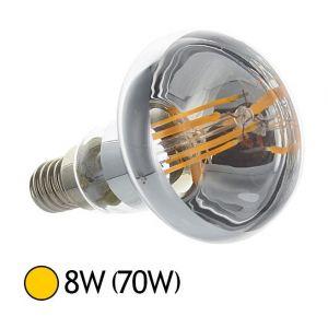 Vision-El Spot Led 8W (70W) E27 Filament COB R80 Blanc chaud 2700°K