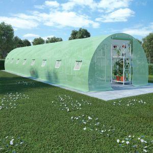 VidaXL Serre avec fondation en acier 36 m² 1200x300x200 cm