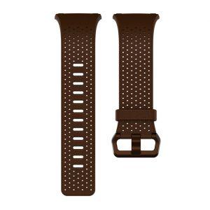 Fitbit FB164LBDBS - Bracelet montre cuir perforé cognac S
