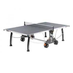 CORNILLEAU Table de Ping Pong 400M CROSSOVER OUTDOOR- Gris, Votre table livrée montée +75 - Non
