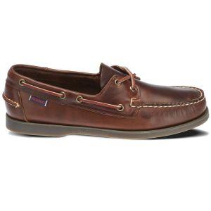 Sebago Docksides Portland Waxed - Chaussures à lacets Homme, Marron