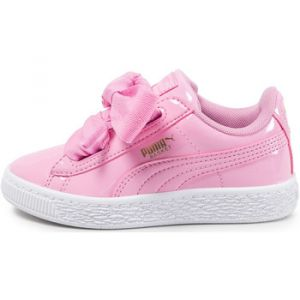 Puma Basket Heart Patent PS, Sneakers Basses Fille, Rose (Prism Pink-Prism Pink 3), 34 EU