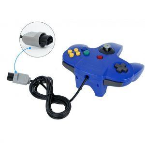 Qumox Controleur Joystick pour Nintendo 64 N64 Système GamePad Bleu