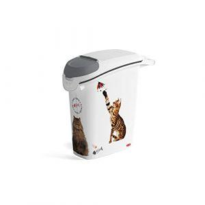 Image de Curver Conteneur à croquettes empilable Love pets 10 Kg - Blanc - Pour chat