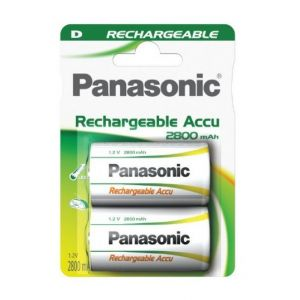 Panasonic Pack de 2 batteries rechargeable type D