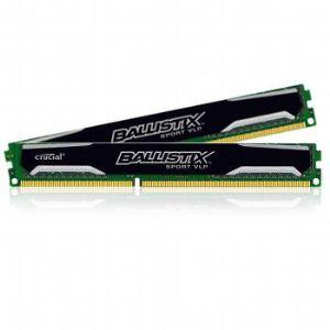 Crucial BLS2C4G3D1609ES2LX0CEU - Barrette mémoire Ballistix Sport VLP 2 x 4 Go DDR3 1600 MHz Dimm 240 broches