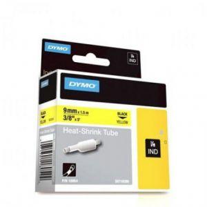 Dymo 18054 - Ruban tape tubing noir / jaune 9 mm