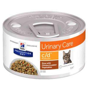 Hill's Feline C/D Multicare mijotés au poulet et légumes 24 x 82 grs