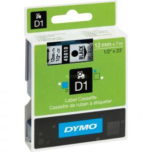 Dymo S0720500 - Ruban type D1 (12mm x 7m) noir / transparent