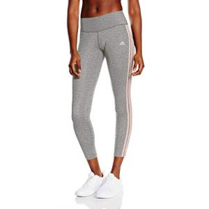 Adidas Essentials 3-Stripes Legging Femme, Gris, Haze Coral, FR (Taille Fabricant : XL)