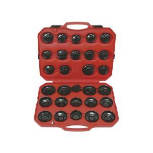 KS Tools 150.9350 - Coffret de 30 cloches pour filtre à huile 1/2'' - 3/8''