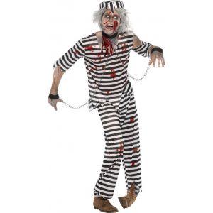Déguisement zombie prisonnier Halloween (taille M)