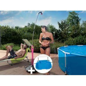 G.F. Douche solaire Sunny Style Fuchsia + Pédiluve