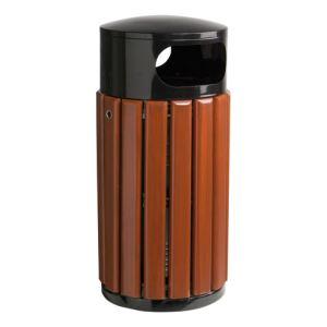 Rossignol (collecte déchets & hygiène) Corbeille bois ronde (40 L)