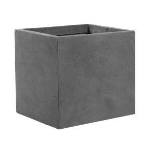 Lechuza Pot carré Genève GM gris 223,9 L