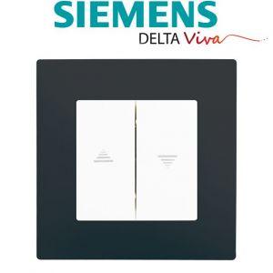 Siemens Interrupteur Volet Roulant Blanc Delta Viva + Plaque Anthracite