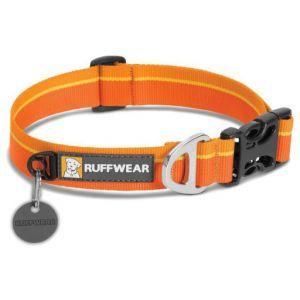 Ruffwear Collier classique pour chien, Chiens de taille moyenne, Taille ajustable, Taille: M (36-51 cm), Orange (Orange Sunset), Hoopie Collar, 25203-8351420