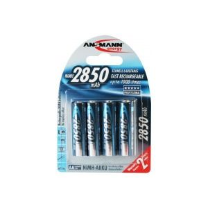 Ansmann Pile rechargeable type LR06 AA Ni-MH 2850 mAh x4