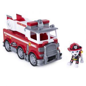 PAT PATROUILLE Ultimate Rescue Véhicule et figurine rouge Marcus