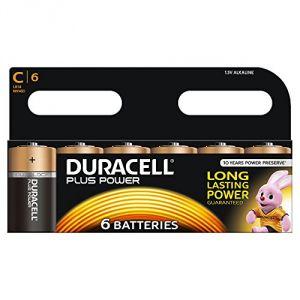 Duracell 6 piles alcalines C LR14 Plus Power