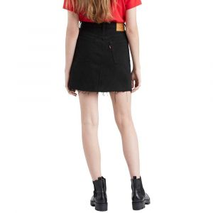 Levi's HR Decon Iconic BF Skirt Jupe, Noir (Left Behind 0008), 32 (Taille Fabricant: 30) Femme