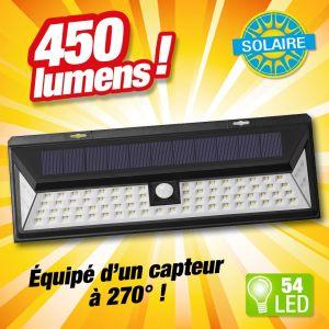 Outiror PROJECTEUR DETECTEUR DE MOUVEMENTS à energie solaire 54 LED